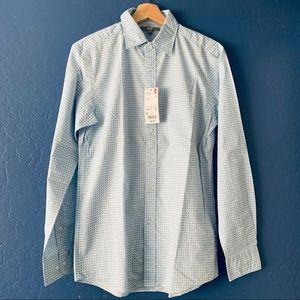 NWT Uniqlo Broadcloth Printed Long Sleeve Shirt S
